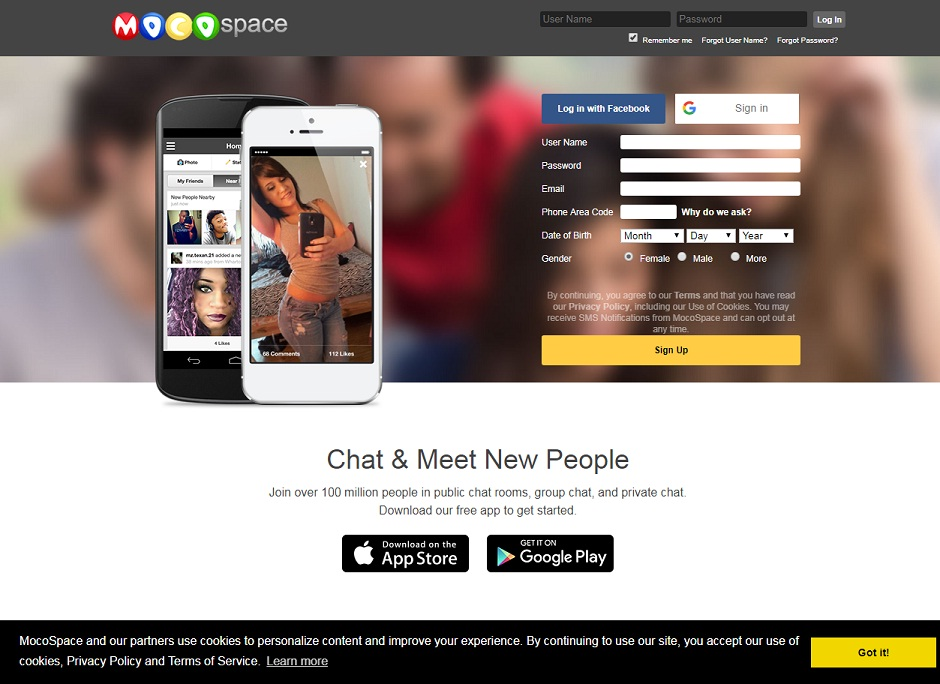 MocoSpace Login, MocoSpace Login with Google, mocospace games